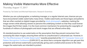 On the Effectiveness of Visible Watermarks